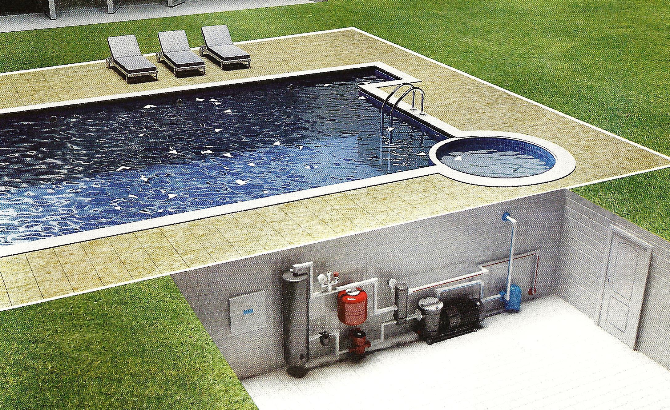 Как сделать нагрев воды в бассейне